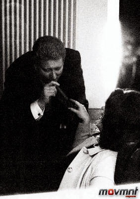 Bill and Monica smoke the cigar in the Oval - Photo by Alison Jackson